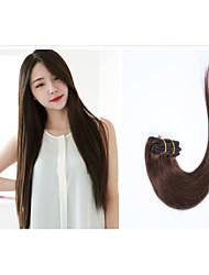8pcs / lot 24inch / 60cm multicolors 110g / pack pinza directamente a la extensión del pelo grade5a extensión del pelo humano