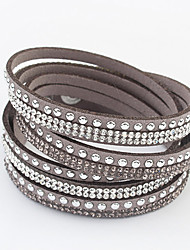 Alloy/Rhinestone Bracelet Wrap Bracelets Daily 1pc