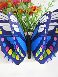 3D Wall Stickers Wall Decals, 4PCS Large Size 15cm Butterfly PVC Wall Stickers