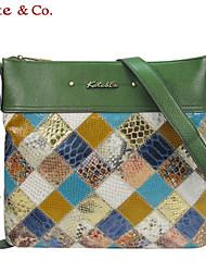 Women Cowhide Casual Shoulder Bag Multi-color