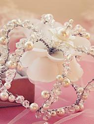 Capacete Tiaras Casamento Liga/Imitação de Pérola Mulheres Casamento