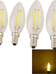 Lampadine LED a incandescenza 4 YouOKLight E14 Decorativo 320 LM Bianco caldo 4 pezzi AC 220-240 V