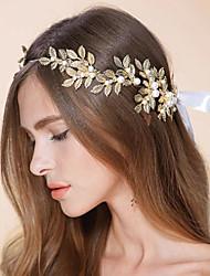 Golden Olive Branch Pearls Beaded Bridal Hairwear Goddess Wedding Accessories