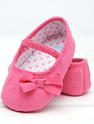 Baby Shoes Wedding/Dress/Casual Cotton Flats Coral