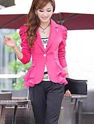 Women's Casual Work Thin Long Sleeve Short Blazer (Others)