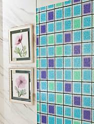 plaid bleu d film de fenêtre stéréo classique