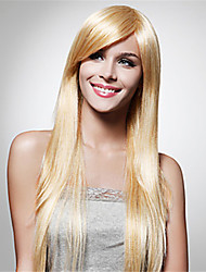 Popular Blonde Synthetic Hair Woman's Cosplay Wig Straight Animated Wigs