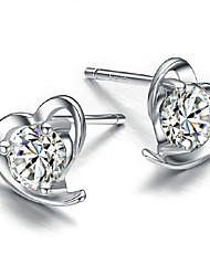 KIKI 925 soft silver heart-shaped Earrings