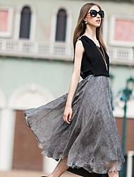 Robes ( Mousseline ) Informel/Travail Sans manche pour Femme