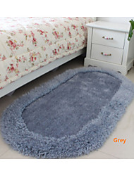 Oval Casual Silk  80cm*160cm  Sofa Table Bedroom  Carpet  Bath Rugs