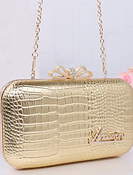 Women PU Event/Party Evening Bag White / Pink / Purple / Green / Yellow / Gold / Silver / Black