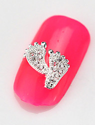 Fashion 10PCS RG090 Zircon 3D Alloy Nail art Decoration Diamond Nail Salon Supplier DIY Accessories Nail Sticker