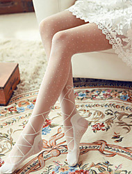Women's Lolita Sweet Style Ballet Shoes Design Pantyhose