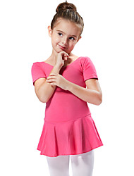 Ballet Dresses&Skirts/Tutus & Skirts/Dresses Children's Performance/Training Cotton 1 Piece Fuchsia/Light Blue Kids Dance Costumes