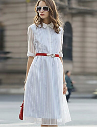 Women's Mid-Length Three Quarter Sleeve Dress