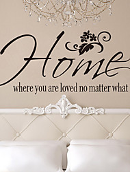 Wall Stickers Wall Decals, Style Home Where You Are Loved No Matter What English Words & Quotes PVC Wall Stickers