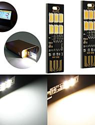 10pcs 1w 50LM blanco cálido interruptor del tacto del usb campamento móvil de energía llevó la lámpara de luz