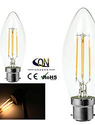 2 kpl ONDENN B22 4 COB 400 LM Lämmin valkoinen C35 edison Vintage LED-hehkulamput AC 220-240 / AC 110-130 V