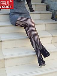 Для женщин Ультра-секси Ночное белье Полоски Хлопок Полиэстер Черный