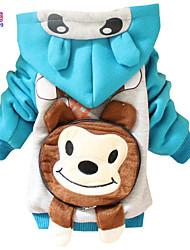 Winter Kids Boys' Villi Dog Hooded Bag Back Outwear Jacket