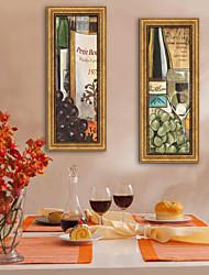 Fantasía / Comida/Bebida Lienzo enmarcado / Conjunto enmarcado Arte de la pared,PVC Dorado Passepartout no incluido con MarcoArte de la