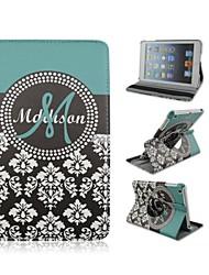7,9 pouces de 360 degrés cas motif rotation de fleurs en cuir PU avec support et un stylo pour Mini iPad 1/2/3