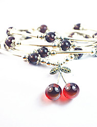 Fashion Vintage Sweet Cherry Charm Bracelets For Women
