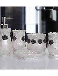 The Thread Sider Pattern Bathroom Ware 5 Sets/White