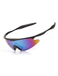 Cycling Men's 100% UV400 Polarized Plastic Wrap Sports Glasses(Assorted Color)