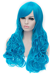 Selling The New Blue Curly Hair Wig High Quality Nylon Hair Wigs