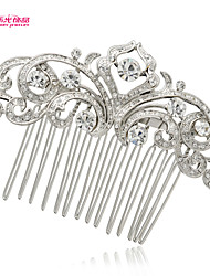 Neoglory Jewelry Alloy Flower Hair Combs Headpiece with Clear Rhinestone for Lady Bridal/Wedding/Daily/Pageant