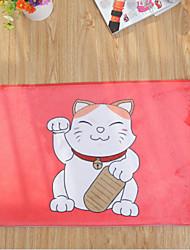 """Bath Mat Modern Flannel Lucky Cat W16"""" x L24"""""""