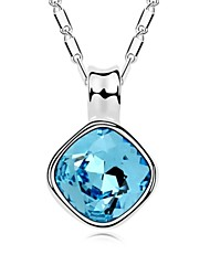 collar corto margaret plateado con 18k verdadera aguamarina platino cristalizó piedras de cristal austríaco