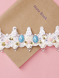 Women Lace Rhinestone Wreaths With Wedding Headpiece