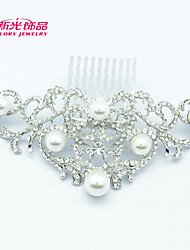 Neoglory Jewelry Wedding Bridal Hair Comb Accessories with Rhinestone and Imitation Pearl for Lady/Bridal/Pageant