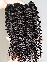 """Free Tangle Virgin Peruvian Human Hair Extensions 1B Black Remy Jerry Curly Wave Human Hair Weave 300g/lot 12""""-30"""""""