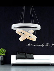 Round LED Pendant Light Lighting Modern Acrylic Lamps Luxurious Three Rings Ceiling Lights Fixtures 305070