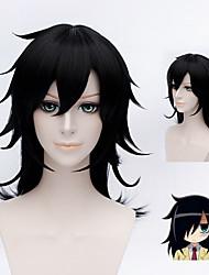 Watamote Kuroki Tomoko Black Short Straight Layered Anime Cosplay Wig + cap