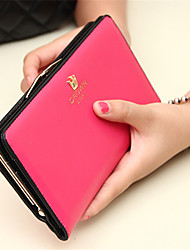 Women Casual PU Button Wallets
