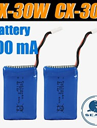 3pcs/pack 3.7v 700mAh Lipo  Cheersontoys Battery for CX-30W CX-30S  v686 v686g Quadcopter Drone Original Batteries