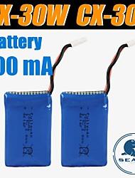 3pcs / pack batterie 700mAh 3.7V de cheersontoys lipo pour cx-30w cx-30s v686 batteries v686g quadcopter drone originaux