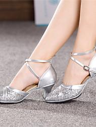 Pumps/Heels ( PU , Azul/Dourado/Rosa/Vermelho/Prateado ) Sapatos de Senhora - Salto Massudo - 3-6cm