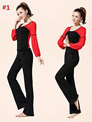 ropa de yoga traje 2015 primavera nueva ropa de manga larga vestido de baile de la aptitud de las mujeres aún más auténtico + 10112 + 2014