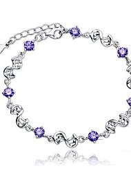 KIKI 925 Crystal Silver Plated Bracelet