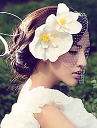 Women Satin/Net Fascinators/Flowers With Wedding/Party Headpiece