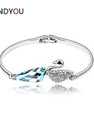 Women's Cuff/Chain/Tennis Bracelet Cubic Zirconia/Alloy/18K Gold Plated Crystal/Rhinestone/Cubic Zirconia