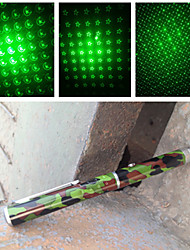 XPL-203LG1 Aluminum Alloy Low-end Pen Shaped Muti-pattern Green Laser Pointer(1mw,532nm,AAA,Camouflage)