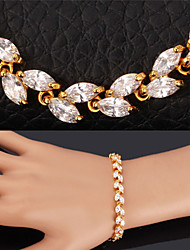 TopGold Exquisite Luxury AAA+ Zirconia Cubic Bracelet Bangle 18K Gold Plated Jewelry Gift for Women High Quality