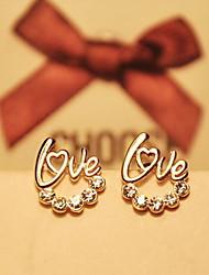 EMIER Women's Rhinestone Alloy Classical Lovely Earrings Party Leisure Casual Work