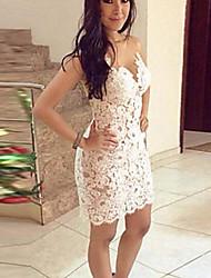 VONIWomen's Party Sleeveless Dresses (Lace)
